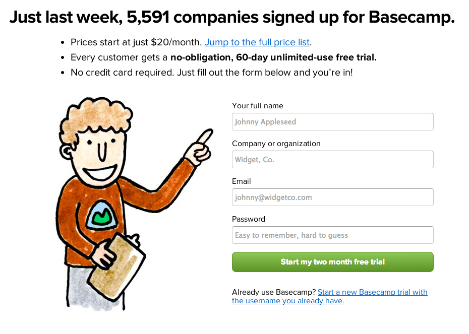 Conversion Rate Optimization and Basecamp
